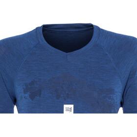 Compressport Training Mont Blanc 2019 Lyhythihainen T-Paita Naiset, blue